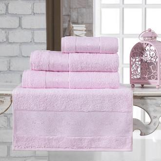 Полотенце для ванной Karna PANDORA бамбуковая махра светло-розовый