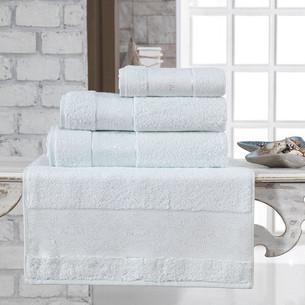 Полотенце для ванной Karna PANDORA бамбуковая махра светло-зелёный 50х90