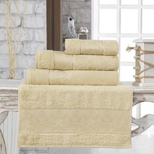 Полотенце для ванной Karna PANDORA бамбуковая махра золотистый 90х150