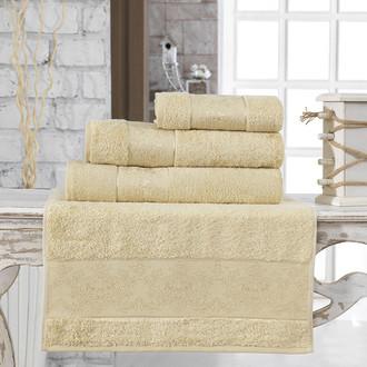 Полотенце для ванной Karna PANDORA бамбуковая махра золотистый