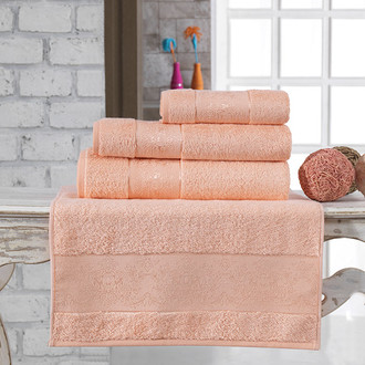 Полотенце для ванной Karna PANDORA бамбуковая махра абрикосовый