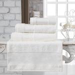 Полотенце для ванной Karna PANDORA бамбуковая махра кремовый 70х140, фото, фотография