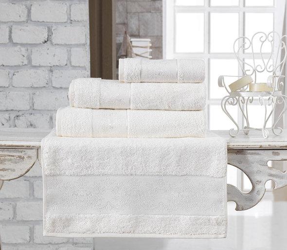 Полотенце для ванной Karna PANDORA бамбуковая махра кремовый 70*140, фото, фотография