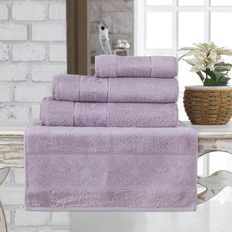 Полотенце для ванной Karna PANDORA бамбуковая махра светло-лавандовый