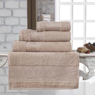 Полотенце для ванной Karna PANDORA бамбуковая махра капучино 90х150