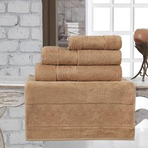 Полотенце для ванной Karna PANDORA бамбуковая махра горчичный 90х150