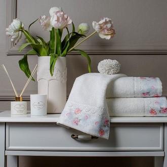 Подарочный набор полотенец для ванной 3 пр. Tivolyo Home VENICE хлопковая махра (кремовый)