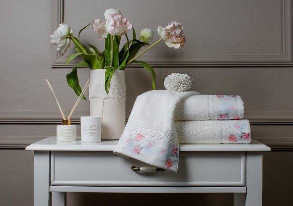 Подарочный набор полотенец для ванной 3 пр. Tivolyo Home VENICE хлопковая махра (кремовый), фото, фотография