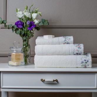 Полотенце для ванной + спрей в подарочной упаковке Tivolyo Home VERSAILLES хлопковая махра кремовый