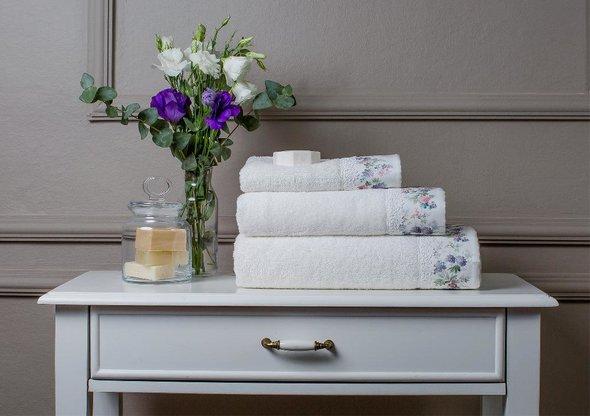 Полотенце для ванной в подарочной упаковке Tivolyo Home VERSAILLES хлопковая махра (кремовый) 50*100, фото, фотография