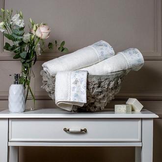 Полотенце для ванной + спрей в подарочной упаковке Tivolyo Home IRIS хлопковая махра (кремовый)