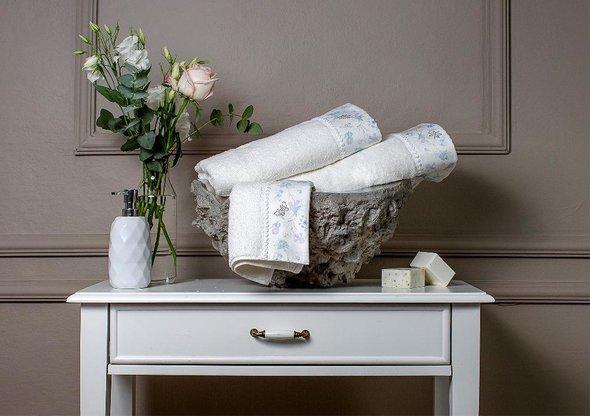 Полотенце для ванной в подарочной упаковке Tivolyo Home IRIS хлопковая махра (кремовый) 50*100, фото, фотография
