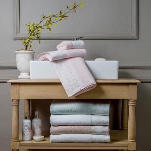 Подарочный набор полотенец для ванной 3 пр. Tivolyo Home TESS хлопковая махра розовый