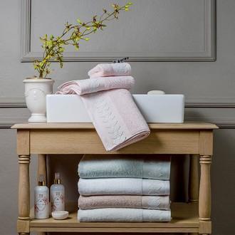 Подарочный набор полотенец для ванной 3 пр. Tivolyo Home TESS хлопковая махра (зелёный)