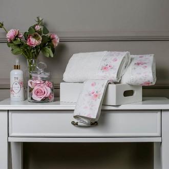 Полотенце для ванной в подарочной упаковке Tivolyo Home CHESRISH хлопковая махра кремовый