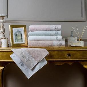Полотенце для ванной в подарочной упаковке Tivolyo Home JULIET хлопковая махра кремовый 50х100