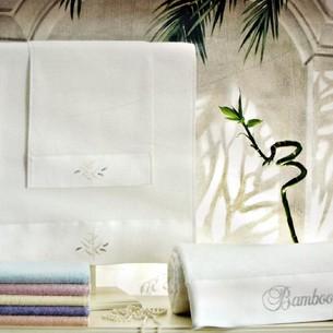 Подарочный набор полотенец для ванной 3 пр. Tivolyo Home BAMBOO хлопковая махра лиловый