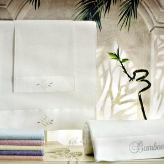 Подарочный набор полотенец для ванной 3 пр. Tivolyo Home BAMBOO бамбуковая/хлопковая махра (персиковый)
