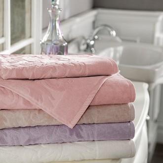 Подарочный набор полотенец для ванной 3 пр. Tivolyo Home BAROC хлопковая махра (розовый)
