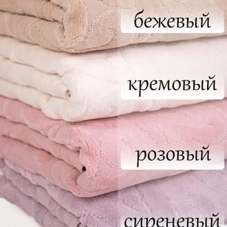 Подарочный набор полотенец для ванной 3 пр. Tivolyo Home BAROC хлопковая махра (кремовый)