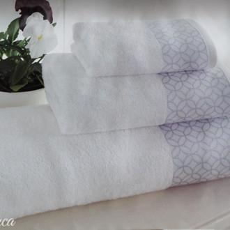 Подарочный набор полотенец для ванной 3 пр. Tivolyo Home BLANCA хлопковая махра (синий)