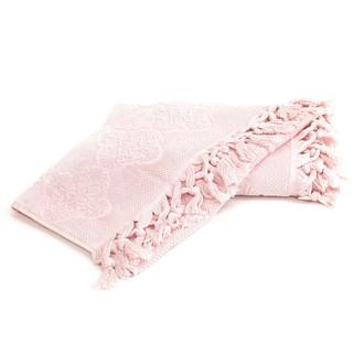 Подарочный набор полотенец для ванной 2 пр. Tivolyo Home NERVURES хлопковая махра розовый