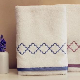 Полотенце для ванной в подарочной упаковке Tivolyo Home ZENGA хлопковая махра (синий)