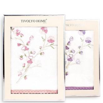 Полотенце для ванной в подарочной упаковке Tivolyo Home RAMETTO NAKISLI хлопковая махра (лиловый)