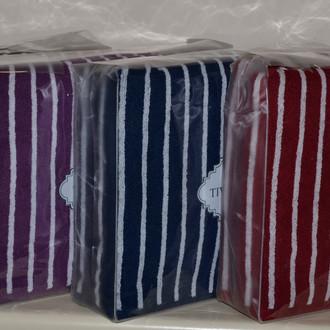 Подарочный набор полотенец для ванной 2 пр. Tivolyo Home CASABLANCA LINE хлопковая махра (бордовый)