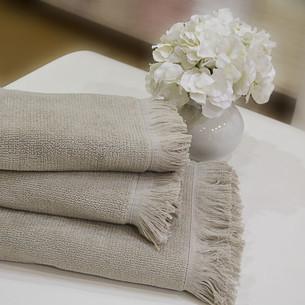 Полотенце для ванной Soft Cotton FRINGE хлопковая махра бежевый 75х150
