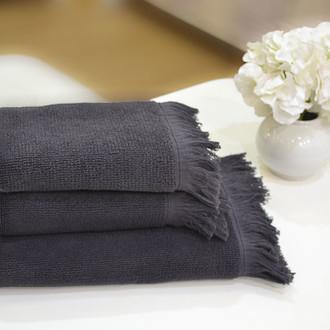 Полотенце для ванной Soft Cotton FRINGE хлопковая махра (антрацит)
