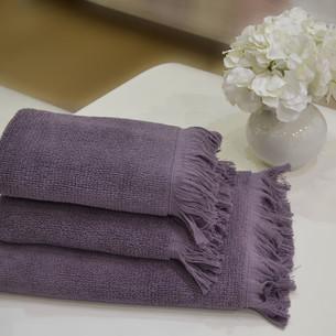 Полотенце для ванной Soft Cotton FRINGE хлопковая махра фиолетовый 50х100