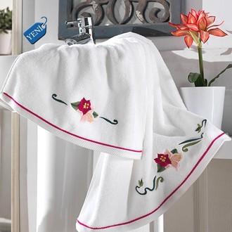 Полотенце для ванной Soft Cotton LILY хлопковая махра фиолетовый