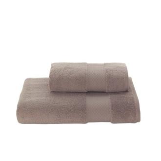 Полотенце для ванной Soft Cotton ELEGANCE хлопковая махра коричневый