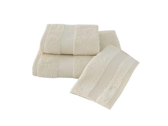 Полотенце для ванной Soft Cotton DELUXE махра хлопок/модал (экрю) 75*150, фото, фотография