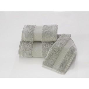 Набор полотенец для ванной в подарочной упаковке 32х50, 50х100, 75х150 Soft Cotton DELUXE хлопковая махра серый