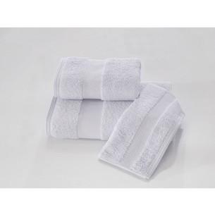 Набор полотенец для ванной в подарочной упаковке 32х50, 50х100, 75х150 Soft Cotton DELUXE хлопковая махра голубой