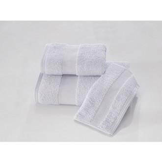 Набор полотенец для ванной в подарочной упаковке 32*50, 50*100, 75*150 Soft Cotton DELUXE хлопковая махра (голубой)
