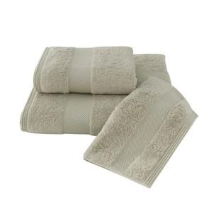Набор полотенец для ванной в подарочной упаковке 32х50, 50х100, 75х150 Soft Cotton DELUXE хлопковая махра светло-бежевый