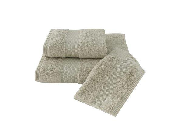 Набор полотенец для ванной в подарочной упаковке 32*50, 50*100, 75*150 Soft Cotton DELUXE хлопковая махра (светло-бежевый), фото, фотография