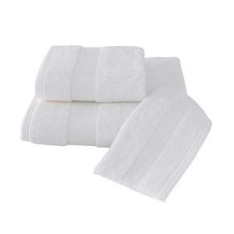 Набор полотенец для ванной в подарочной упаковке 32*50, 50*100, 75*150 Soft Cotton DELUXE хлопковая махра (белый)