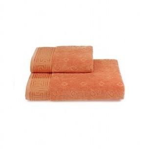 Полотенце для ванной Soft Cotton VERA хлопковая махра оранжевый 50х100