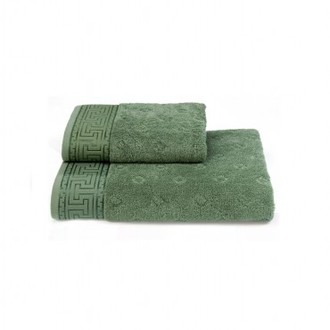 Полотенце для ванной Soft Cotton VERA хлопковая махра зелёный 75*150
