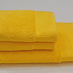 Полотенце для ванной Soft Cotton VERA хлопковая махра ярко-жёлтый 50х100
