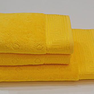 Полотенце для ванной Soft Cotton VERA хлопковая махра ярко-жёлтый