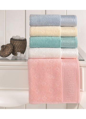 Полотенце для ванной Soft Cotton VERA хлопковая махра ярко-жёлтый 50х100, фото, фотография