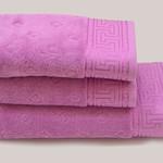 Полотенце для ванной Soft Cotton VERA хлопковая махра малиновый 75х150, фото, фотография