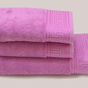 Полотенце для ванной Soft Cotton VERA хлопковая махра малиновый 50х100