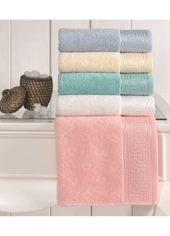 Полотенце для ванной Soft Cotton VERA хлопковая махра малиновый 75*150, фото, фотография