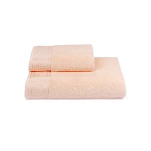 Полотенце для ванной Soft Cotton VERA хлопковая махра персиковый 50х100